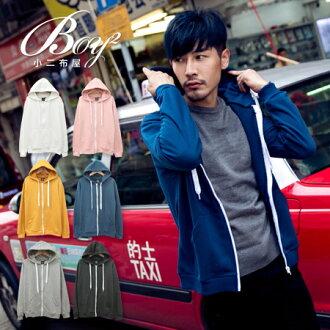 ☆BOY-2☆【KK0160】連帽外套 休閒棉質連帽抽繩外套