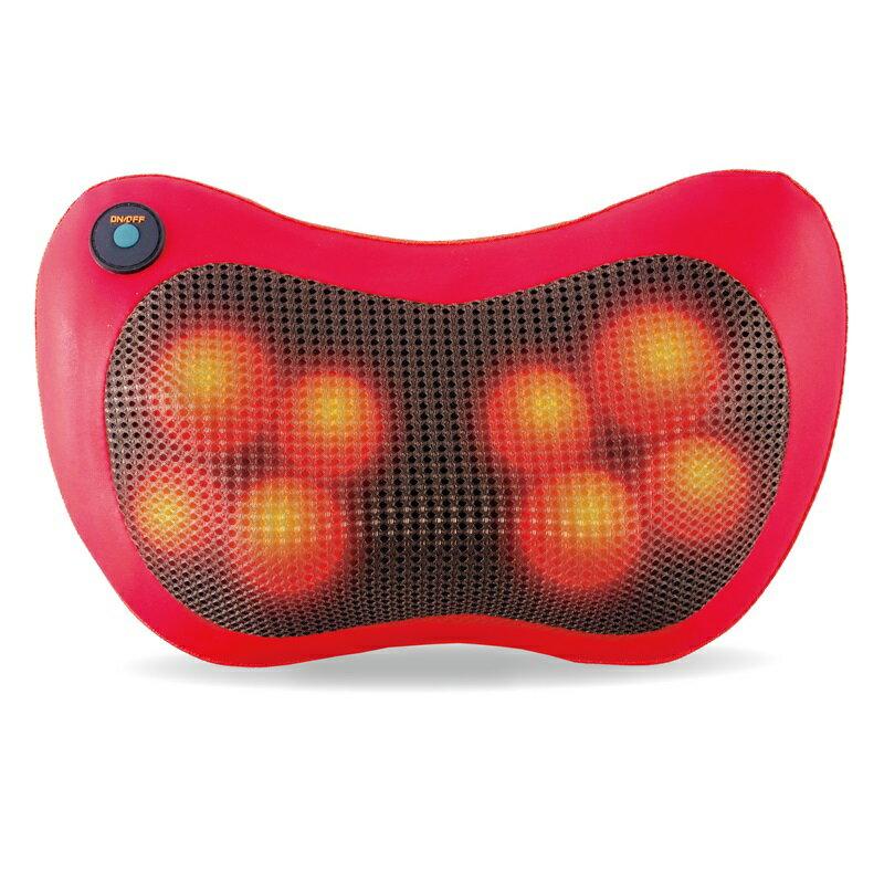 【歌林】溫熱揉捏按摩器 體積輕巧 8顆按摩球 按摩枕 附車充 紅 KMA-HC100 保固免運 母親節父親節