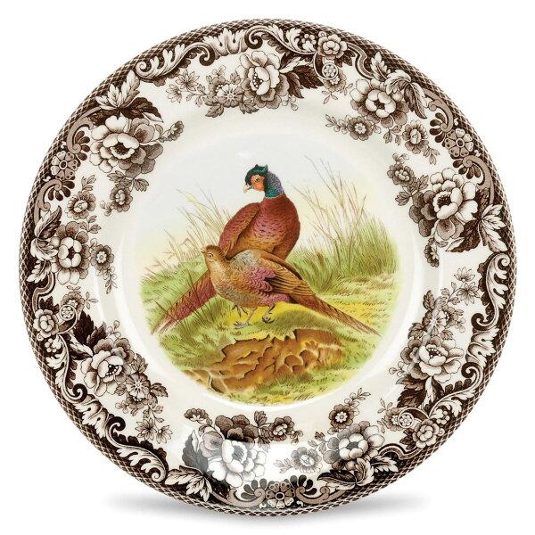 英國SPODEWOODLAND典藏森林地帶27CM盤(Pheasant雉雞)