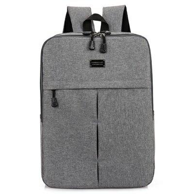 後背包純色電腦包-時尚休閒百搭多功能男女雙肩包4色73ru42【獨家進口】【米蘭精品】