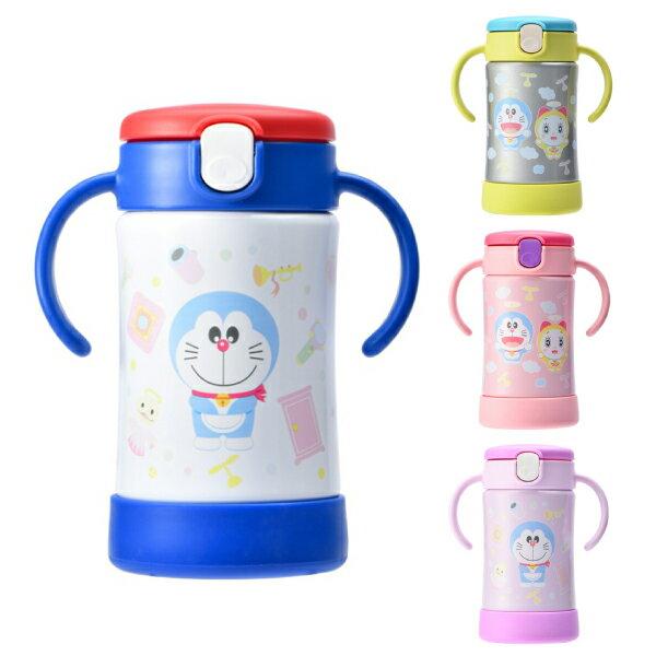 麗兒采家 日本 Richell 利其爾 哆啦A夢 Doraemon TLI不鏽鋼吸管保溫杯|喝水杯 300ml(4色可選)