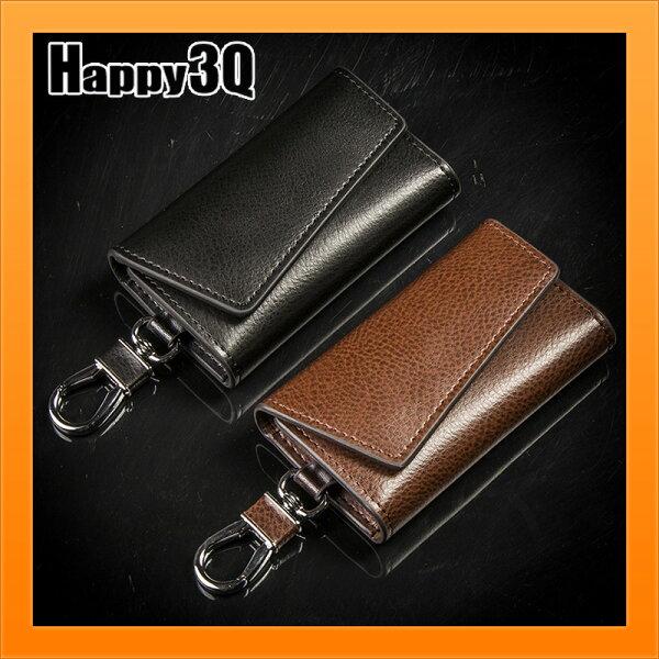 多功能鑰匙包磁扣感應鈔票位簡約大氣掛腰鑰匙收納包-黑咖【AAA4135】
