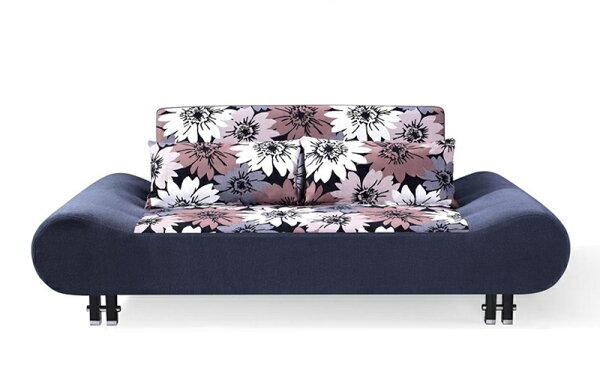 !新生活家具!《花蕊》僅此一組沙發床三人位沙發布沙發棉絨布三段調節可拆洗北歐現代