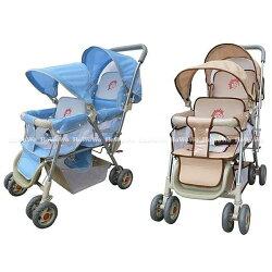 babybabe 豪華嬰兒雙人推車(雙篷型)328 好娃娃