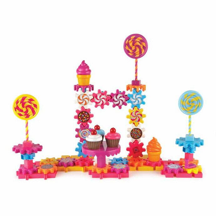 【華森葳兒童教玩具】建構積木系列-糖果屋齒輪組 N1-9215