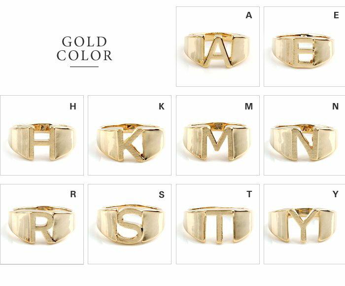 日本CREAM DOT  /  リング 指輪 レディース 15号 ワイドリング ファッションリング イニシャル ヘアライン加工 大人カジュアル シンプル 可愛い ゴールド シルバー  /  a03578  /  日本必買 日本樂天直送(1290) 3