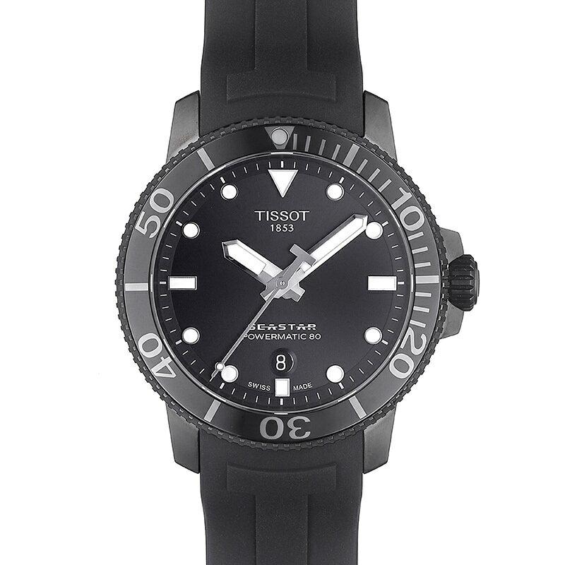 🔥火熱到貨🔥TISSOT 天梭錶 SEASTAR 1000海洋之星300米潛水機械錶T1204073705100 黑 / 43mm 1