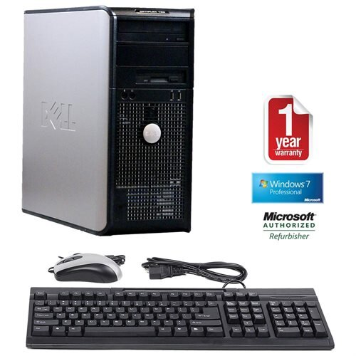 Dell OptiPlex 760 Mini Tower Intel C2D-3 0GHz, 4GB RAM, 250GB HDD, DVDRW,  Win 10 Pro (64-bit)