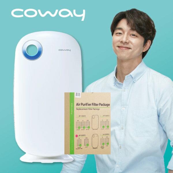 Coway 加護抗敏型空氣清淨機AP-1009CH + 濾網三年份(活性碳除臭濾網3片+Green Hepa濾網1片) 優惠組 0