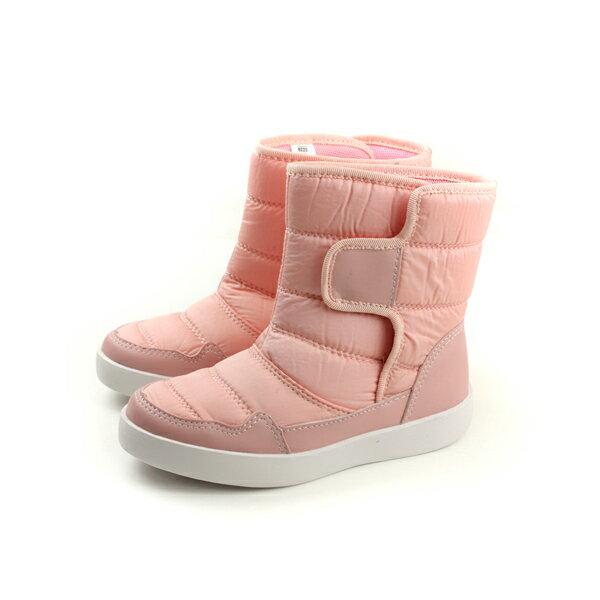 HUMAN PEACE:CONNIFE舒適中筒靴子魔鬼氈粉紅色大童B223-23no506
