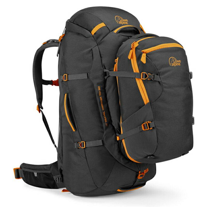 【鄉野情戶外專業】 Lowe Alpine |英國|  AT Voyager70+30健行登山背包/子母包.省力.自助旅行 出國打工-黑 _FTR-28-AN