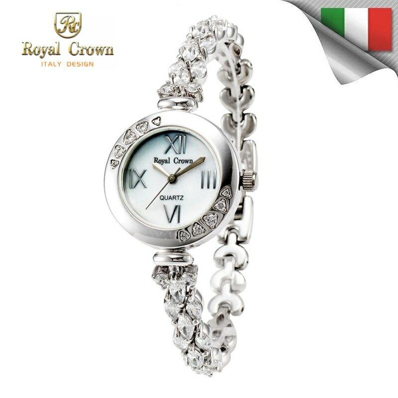 機芯 圓款華貴氣質鑲鑽錶 鑲鑽鏈帶3802B免 義大利品牌 女錶 蘿亞克朗 Royal C