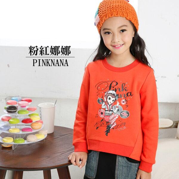 Pink Nana:PINKNANA童裝女童秋冬圓弧娜娜長袖厚感上衣35169