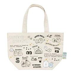大賀屋 角落生物  帆布袋 白熊 企鵝 收納袋 購物袋 包包 提袋 刺繡 San-X 日貨 正版授權 J00014331