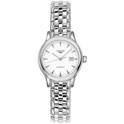 LONGINES 浪琴表 L43744126 旗艦典雅經典腕錶/白面30mm