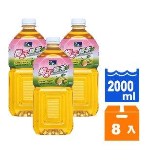 悅氏 礦泉茶品 梅子綠茶 2000ml (8入)/箱
