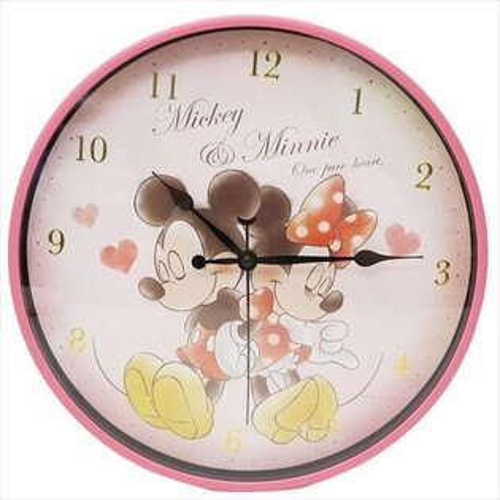 X射線【C064489】米奇Mickey米妮Minnie燙金數字掛鐘,時鐘掛鐘壁鐘座鐘鬧鐘鐘錶手錶潛水錶