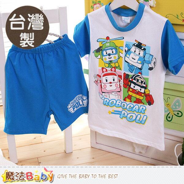 男童裝 台灣製POLI波力正版純棉防蚊布套裝 魔法Baby~k50323