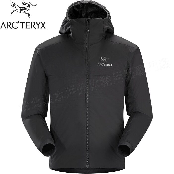 Arcteryx 始祖鳥 Atom AR Hoody 連帽化纖保暖外套/防潑水滑雪外套/雪衣/登山保暖層 男款 14648 黑 台北山水
