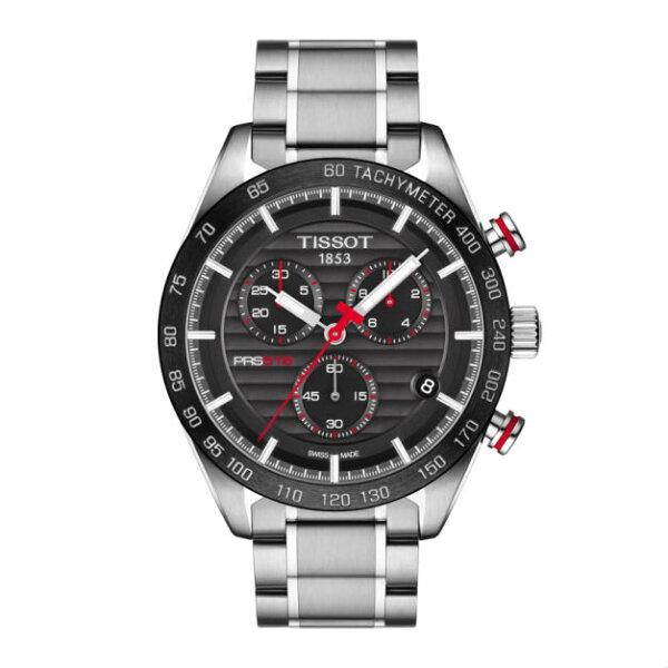 TISSOT天梭錶T1004171105101PRS516大三針機械腕錶黑面42mm