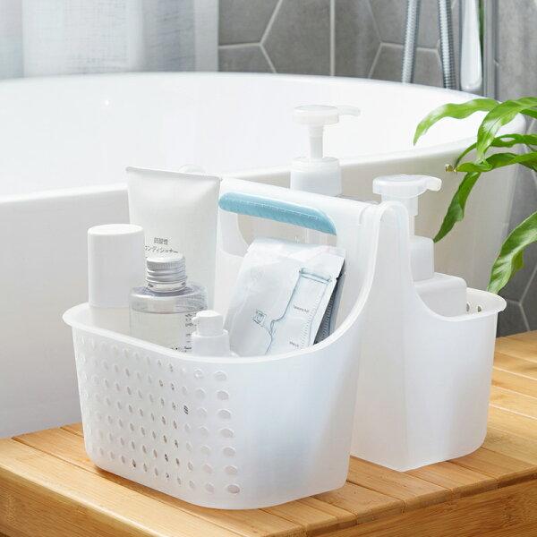 衛浴用品手提洗澡籃子塑料浴室沐浴收納筐家用桌面雜物收納籃洗澡筐