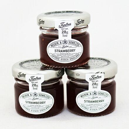 【敵富朗超巿】英國Tip草莓果醬(28gx3入)