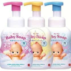 日本 牛乳石鹼 COW Q比嬰兒泡泡沐浴乳-嬰兒皂香 (400ml)【Miss.Sugar】【J000419】