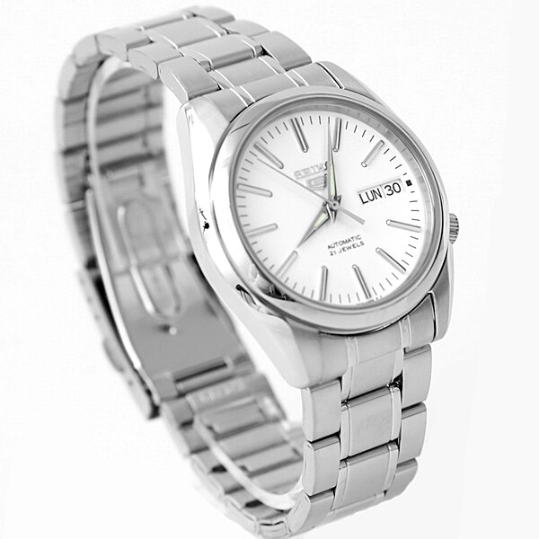 手錶 SEIKO銀色刻度機械錶【NES7】柒彩年代