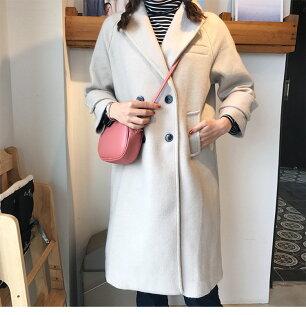 BOBI:大衣復古雙排釦呢氣質長大衣長袖外套【MYGZ862】BOBI0111