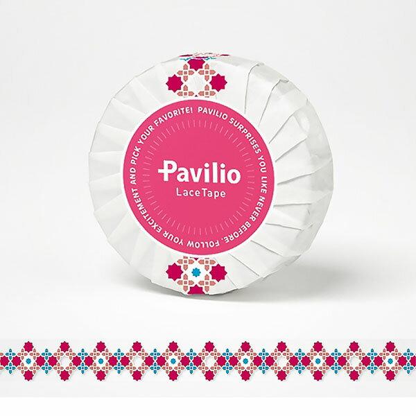 【日本Pavilio】風格膠帶Standard系列F-ST03SP粉紅刺繡捲