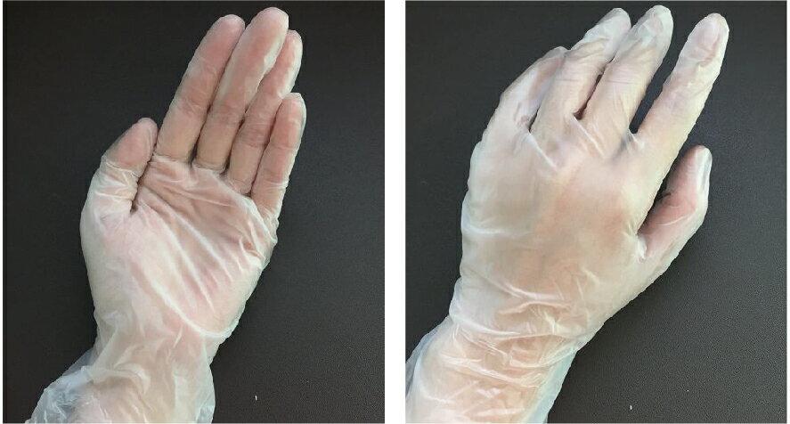 《實驗室耗材專賣》花朵無粉PVC透明手套 Size:M 【100支/盒】 PVC Gloves 無塵設備