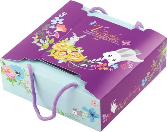 [零售本量] 手提9入盒.追尋幸福 ((附2條36CM紫色圓棉繩).空盒./ 50個