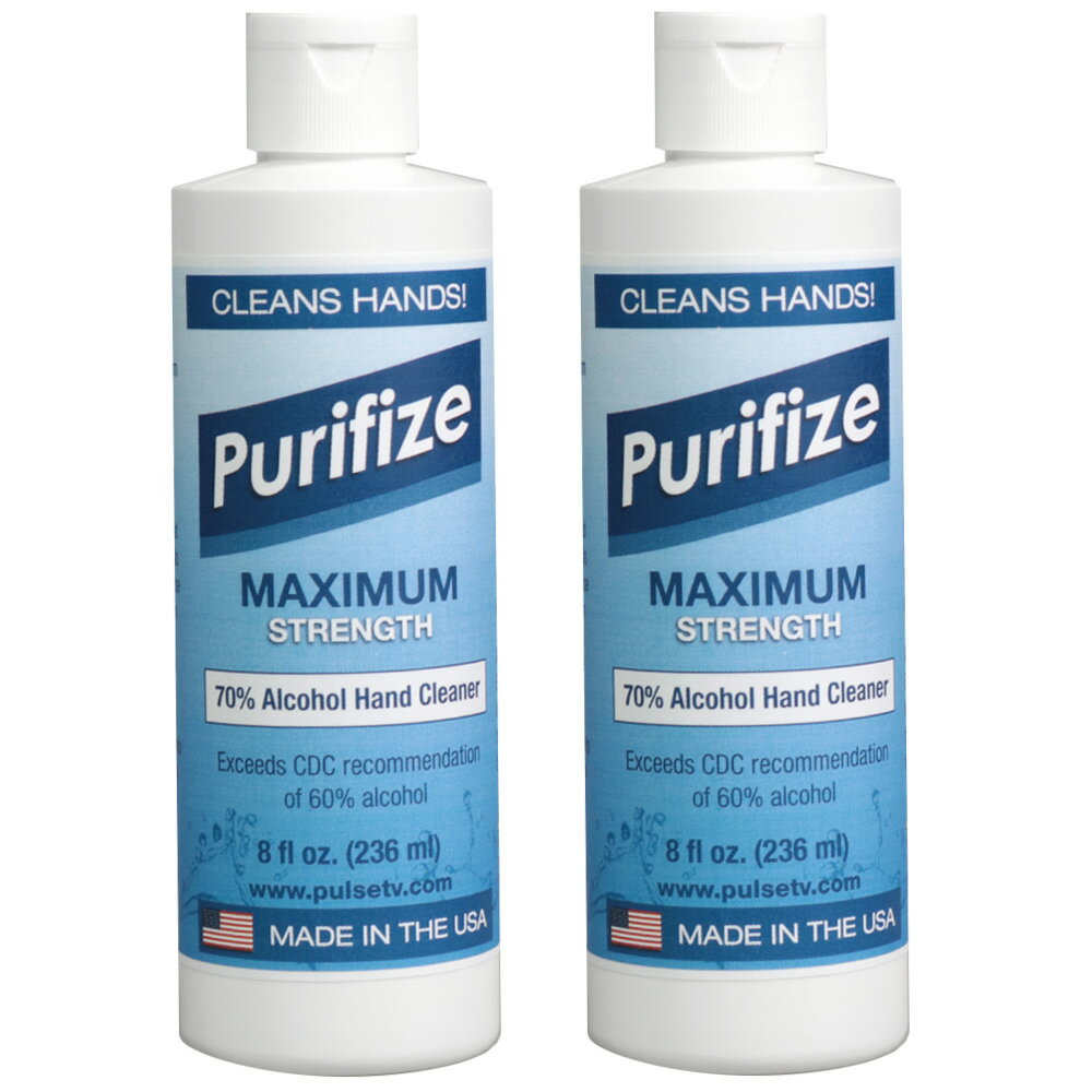 2-Pack Purifize 8oz Alcohol Hand Cleaner