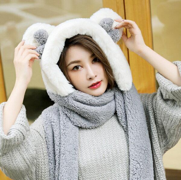 帽子女秋冬休閒百搭秋季韓版甜美可愛潮流秋天兒童圍巾手套三件套 8號時光