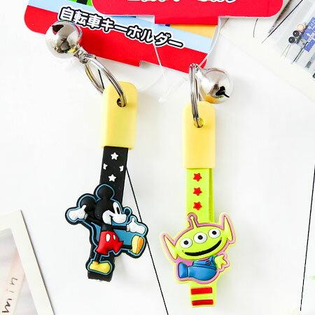 正版 日貨 迪士尼鈴鐺單車鑰匙圈吊飾 掛飾 鑰匙圈 吊飾 包包 單車 鈴鐺 米奇 三眼怪 Disney【N102312】