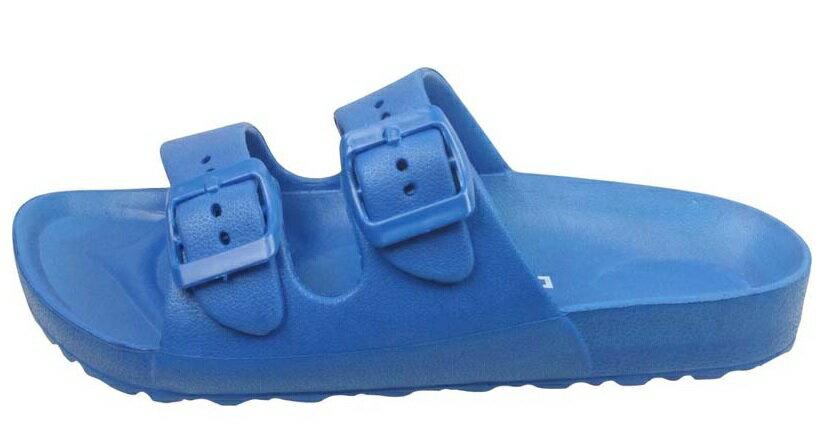 【巷子屋】義大利國寶鞋-DIADORA迪亞多納 女款漾彩時尚雙釦勃肯超輕拖鞋 [3516] 藍 超值價$198
