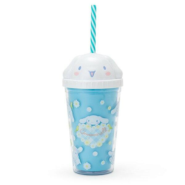 X射線【C147573】大耳狗Cinnamoroll大臉杯蓋造型塑膠水壺300ml,水杯馬克杯杯瓶茶具湯杯玻璃杯不鏽鋼杯