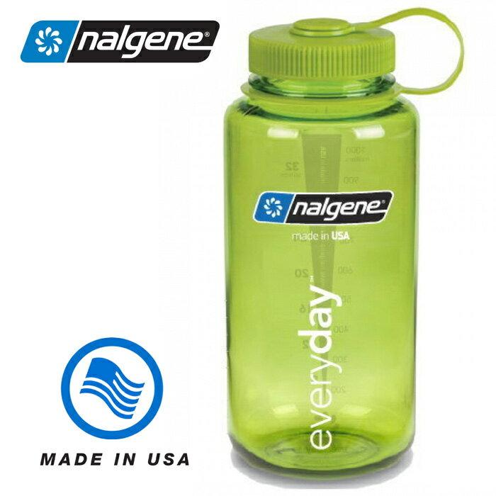 【Nalgene 美國】寬口水壺 運動水壺 水瓶 隨身水壺《春綠色》(2178-2022) 【容量1000ml】