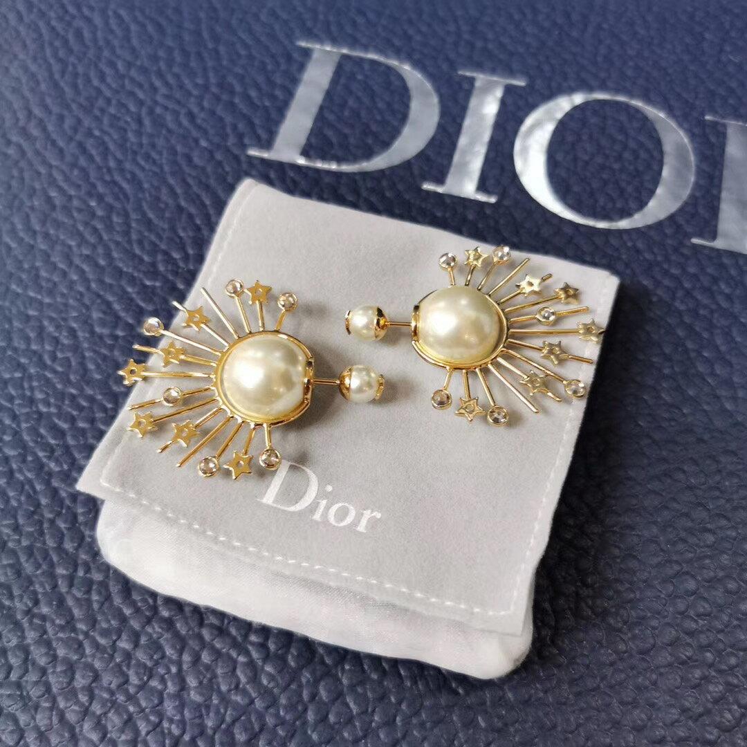 【Go時尚】Dior 迪奧 印地安款 珍珠耳環