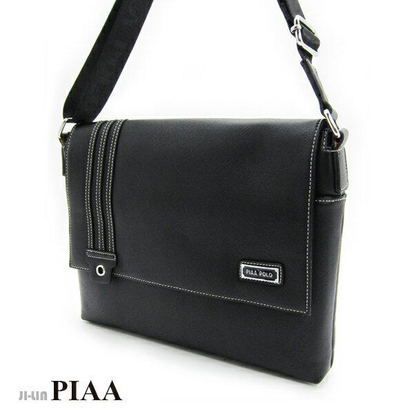 <br/><br/> 5-P813A【PIAA POLO 皮亞 保羅】三條線半蓋橫式側背包<br/><br/>