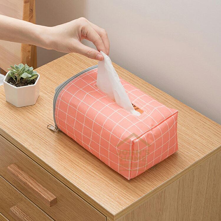 約翰家庭百貨》【SA550】清新簡約汽車面紙套 防水面紙盒套 椅背面紙袋 衛生紙套 隨機出貨