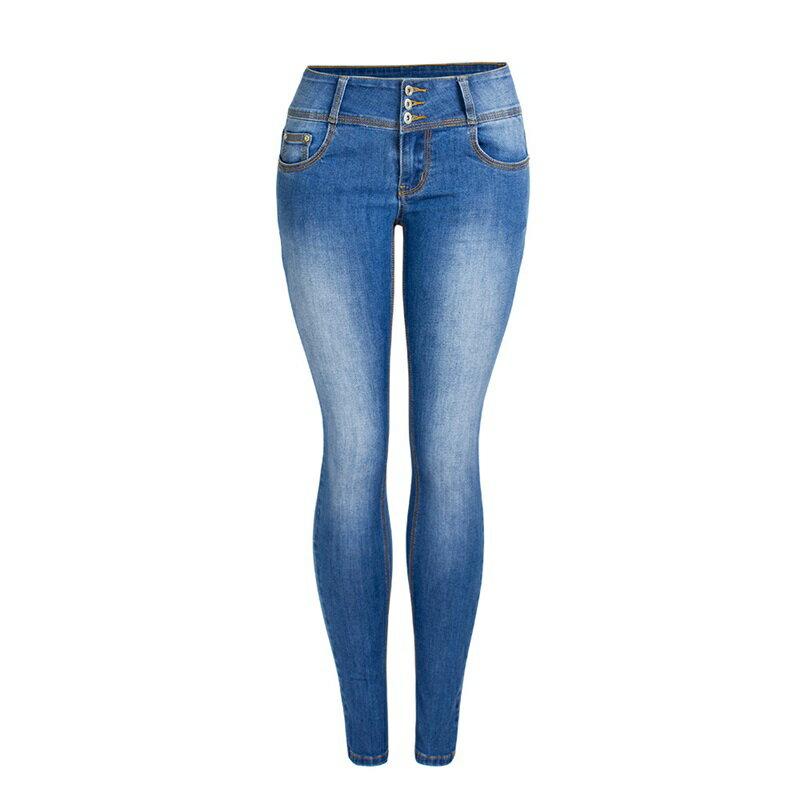 牛仔褲丹寧小腳褲-彈力顯瘦休閒鉛筆褲女長褲73wx24【獨家進口】【米蘭精品】 0