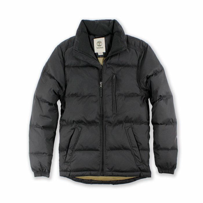 Q美國百分百【全新真品】Timberland 羽絨 外套 保暖 夾克 立領 外衣 防寒 日版 男 黑色 S號 H227