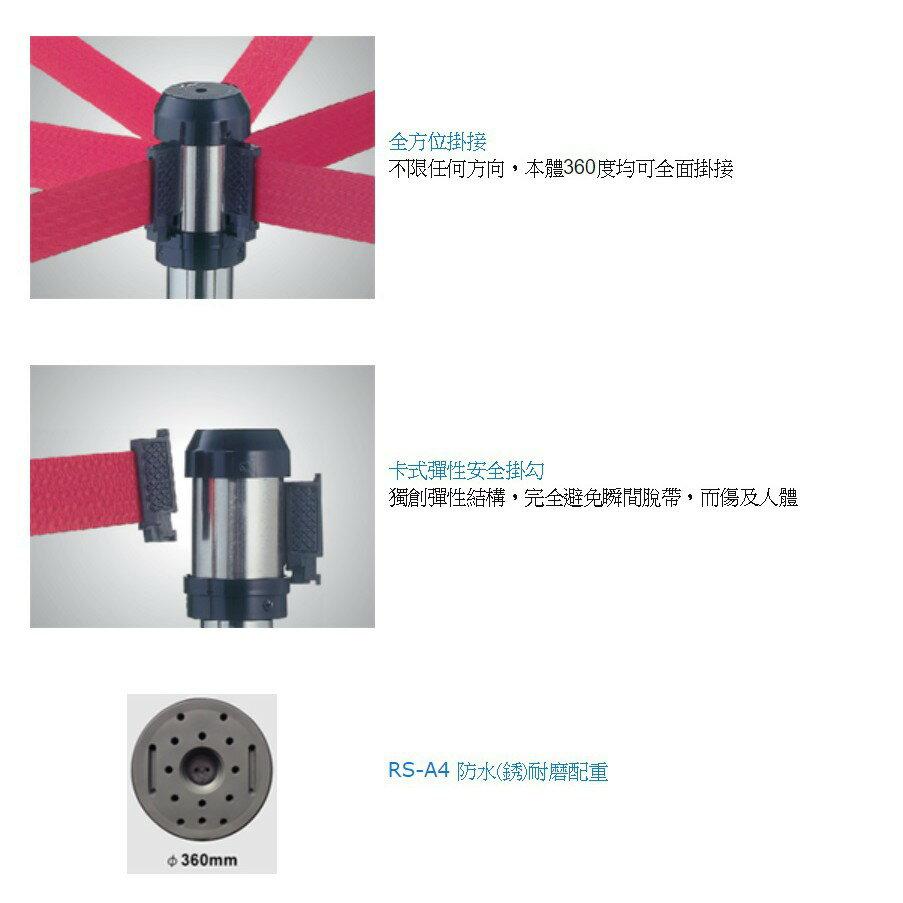 品質保障!萬向伸縮帶欄柱(透明柱) RS-A4CR ~可自由填裝商品 圍欄 紅龍柱 排隊 動線規劃 開店 百貨 台灣製造