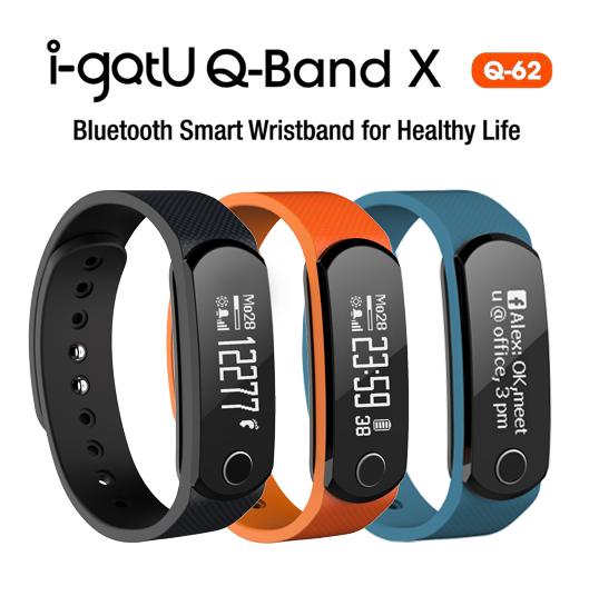鐵樂瘋3C(展翔)★i-gotU Q-Band X Q62【先創】藍牙智慧健身手環 簡訊提醒 運動 跑步 監控 記錄 藍芽腕錶