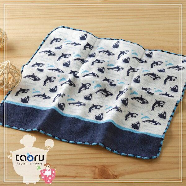 日本毛巾:町娘物語_虎鯨25*25cm(童巾手巾假日水族館--taoru日本毛巾)