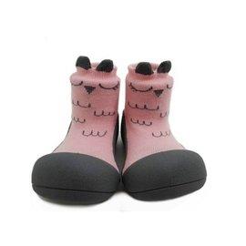 【淘氣寶寶】韓國【Attipas】快樂腳襪型學步鞋-粉色貓頭鷹M