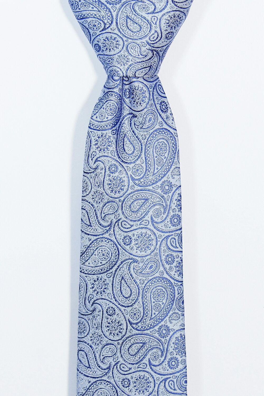 變形蟲圖騰淺藍領帶