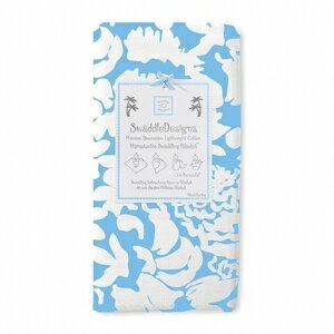 美國【Swaddle Designs】薄棉羅紗多用途嬰兒包巾 (繁花粉藍)