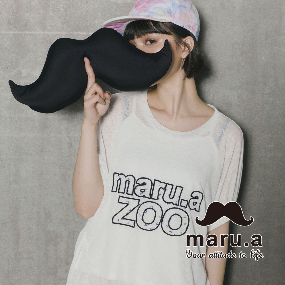 【maru.a】Maru.aZoo刺繡印花文字上衣 7323115 1